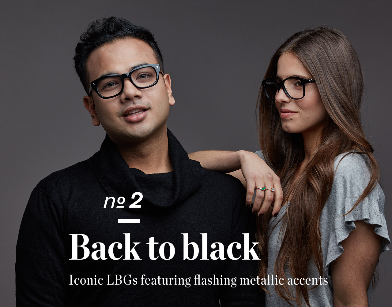 Back to black: Iconic LBGs featuring flashing metallic accents